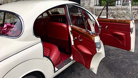 Jaguar Wedding Car Interior
